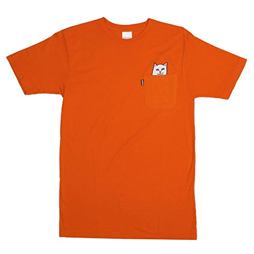 RIPNDIP T-Shirt Lord Nermal Pocket Safety Orange Groesse S (Pocket T-shirt Orange)