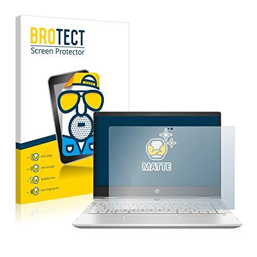 BROTECT Entspiegelungs-Schutzfolie kompatibel mit HP Pavilion x360 14-cd1700ng (1 Stück) - Anti-Reflex, Matt