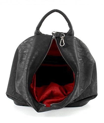 Fritzi aus Preußen Damen Marit Rucksackhandtasche, 16x33x30 cm Schwarz (Black)