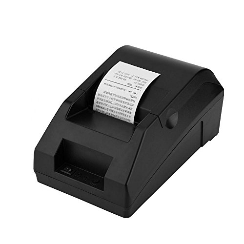 Richer-R Bluetooth Thermodrucker, 48mm Thermal Line Dot System USB Bluetooth Thermodrucker,Leicht Multifunktion Drucker USB POS Thermodrucker für Restaurants Supermärkte Einkaufszentren Schwarz(EU)