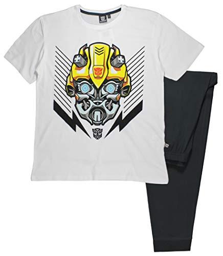 Transformers Jungen Schlafanzug Mehrfarbig schwarz/weiß Gr. XL, schwarz/weiß (Transformers Schlafanzug Jungen)