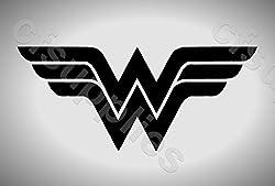 Schablone Marvel WonderWoman-Symbol, Wanddekoration, Mylar, DIN A5, wiederverwendbar, 125Mikron