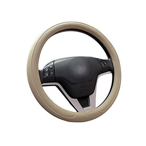 FOONEE Universal-Lenkradhülle aus Leder, für Auto, LKW, SUV, Rutschfest, Auto-Lenkradschutz beige