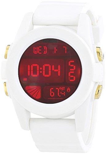 nixon-a1971802-00-montre-homme-quartz-digitale-bracelet-plastique-blanc