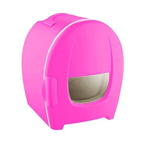 Preisvergleich Produktbild BX Auto Mini Dual Kühlschrank Kühlschrank Kühlschrank 8L Portable Einzigen Tür Kühlschrank , Pink,pink