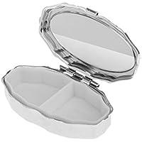 Sharplace Reisen Silber Metall Pillenbox klein Pillendose Tablettenbox Medikamentenbox preisvergleich bei billige-tabletten.eu