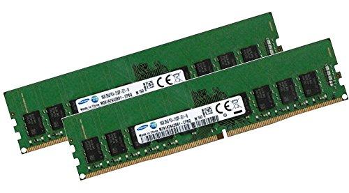 Dimm Dual-channel-speicher (SAMSUNG 32GB Dual Channel Kit 2 x 16 GB 288 pin DDR4 2133 ECC UDIMM 1.2V - passend für alle Serverboards und Workstations mit DDR4 ECC UDIMM Standard)