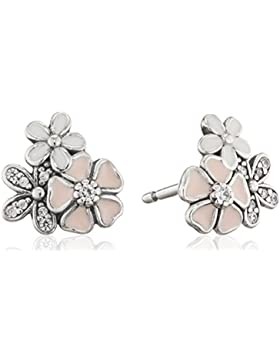 Pandora Damen-Ohrstecker Malerische Blüten 925 Silber Zirkonia weiß-290686ENMX