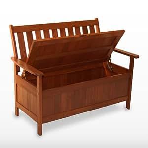 hartholz gartenm bel garten bank kissenbox kissentruhe. Black Bedroom Furniture Sets. Home Design Ideas
