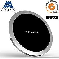Schnelle WLAN Ladegerät Qi Aufladen Standard Pad Ultra Slim Alle Metall  Tragbares Design Handys Laden Unterstützung