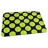 Baby Reusable Diaper Changing Pad - Tennis Balls On Black_50 Portable Waterproof Urine Mat ((27.5 x 19.7 Inch), 70 x 50 cm)