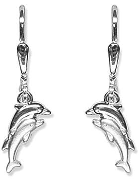 Schmuck-Pur Echt Silber Kinderschmuck Delphin-Motiv-Ohrhänger
