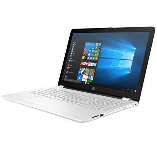 "HP 15-BS010NS - Portátil de 15.6"" (Intel Core i3-6006U 2 GHz, disco duro de 128 GB SSD, RAM de 4 GB, Windows 10 Home) color blanco nieve"