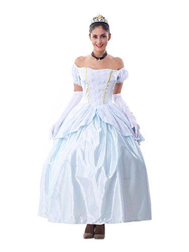 Honeystore Damen Halloween Aschenputtel Kostüme Rollenspiel Prinzessin Cosplay Spiel Uniform Königin Allerheiligen (Biene Königin Erwachsenen Perücke)