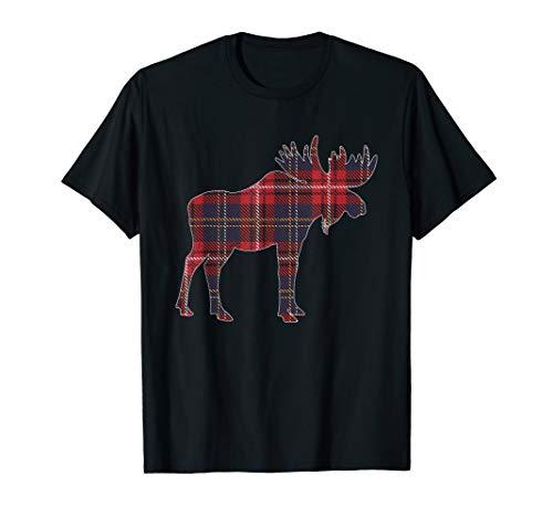 Elch Plaid Weihnachten Buffalo passende Familie Pyjama T-Shirt
