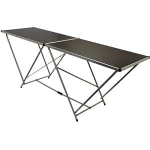 Hartleys Table pliante en aluminium Noir