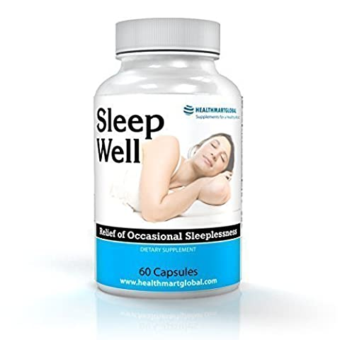 Natural Well Sleep Supplements - Stress Relief Mood Enhancers Remedy Herbal Supplement Capsules