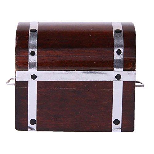 Generic Scala 1/12 Mini Scatola Box Case per Bambole Casa, Bambole e Mobili Accessori - Marrone, 4.2 x 3 x 3cm