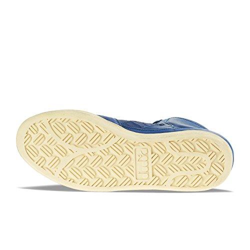 Scarpe da uomo Diadora Milano Basket Used, art. 158569 C5786, colore blu royal, tomaia in pelle C5786 - BLU OCCHI-BLU OCCHI