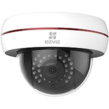EZVIZ C4S, 1080p HD Cámara de Vigilancia Cámaras en Domo WI-FI con Visión Nocturna, Impermeable, Antivandálica, Blanca