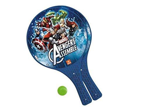 Racchettoni da mare con pallina gioco da spiaggia avengers mod608