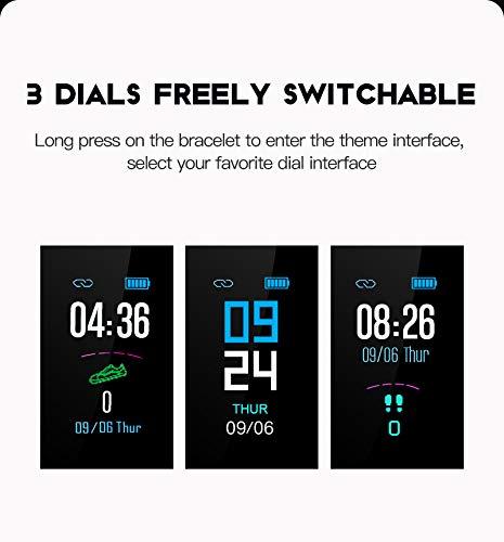 GULEHAY M3 Smart Fitness Tracker, Reloj de Actividad Impermeable con Pantalla a Color Monitor de Ritmo cardíaco Presión… 4