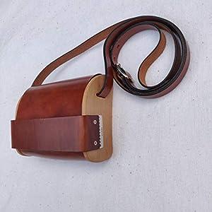 @BAG2ROOTS Tasche aus Holz und Leder – Small Cognac Holztasche