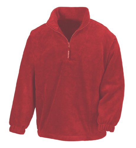 R-33-FaS Result Fleecepullover Active Fleece mit Seitentaschen Red