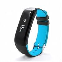 Reloj Inteligente Bluetooth Deportivo de Pulsera,Pulsómetro Pulsera Actividad con Contador de Pasos/Análisis de Sueño/Notificación de WhatsApp /Monitor de Sueño y Calorías/Monitor de ritmo cardíaco Compatible con Android iOS App
