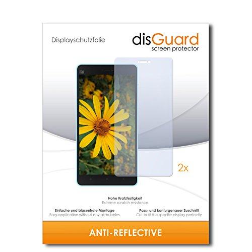 disGuard® Bildschirmschutzfolie [Anti-Reflex] kompatibel mit Xiaomi Mi 4c [2 Stück] Entspiegelnd, Matt, Antireflektierend, Extrem Kratzfest, Anti-Fingerabdruck - Panzerglas Folie, Schutzfolie