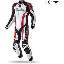 Bela Trajes de moto para hombres Rocket Mix Kangaroo 1 pieza Aprobados CE Mono Moto (54, Blanco/rojo / negro)