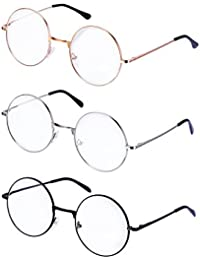 799206d33c5 Metal Frame Round Eyeglasses Retro Metal Clear Lens Glasses