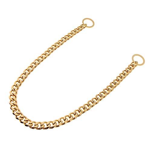 PETSOLA Hund Kettenwürger Würgehalsband verstellbare Hundehalskette Hundehalsband Kette Halskette Kettenhalsband für große Hunde - Gold, 24 Zoll