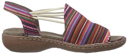 Multicolore punta sandali Donna 07 multi Mehrfarbig chiusa Jenny Korsika wXE4q4Z