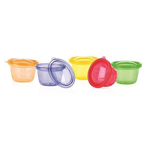 6 Ciotole scodelle colorate con coperchi (diametro 12cm Ca.), Cibo per beb�, picnic. Ermetici e fac