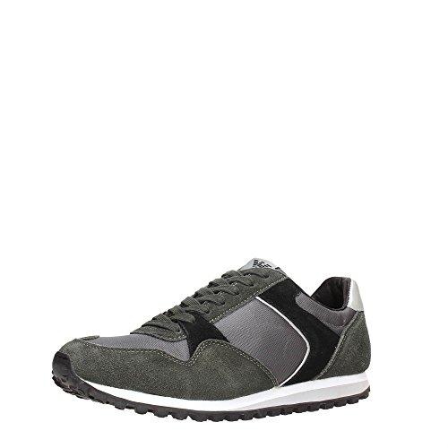Armani Jeans Sneaker Homme Baskets Mode Noir Black