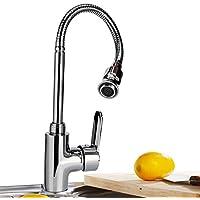 Grifo moderno de la cocina del fregadero de la barra Golpecito giratorio 360 grados Agua caliente y fría para el cuarto de lavado Jardín Al aire libre Churun