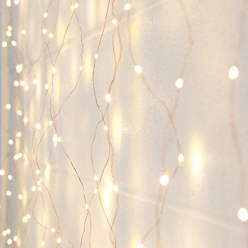 ferdraht Lichter-Vorhang mit 400 LEDs in warmweiß, 2m x 2m, von Festive Lights (Vorhang-lichter)