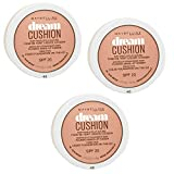 3x Maybelline Dream Cushion N48 Sun Beige Make-Up Foundation SPF20 (3x 14,6gr)