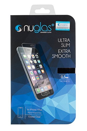 Nuglas iPhone 7 Plus und iPhone 8 Plus 5,5 Zoll Premium Panzerglas-Folie Screen Protector Panzerfolie Displayschutzfolie Tempered Glass Schutzfolie Schutzglas 9h ultra-slim Echtglas transparent 0,3mm