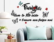Stickerdesign Adesivo Murale Wall Stickers Frase Citazione Famiglia Amore e Vita Adesivi Murali Decorazione in