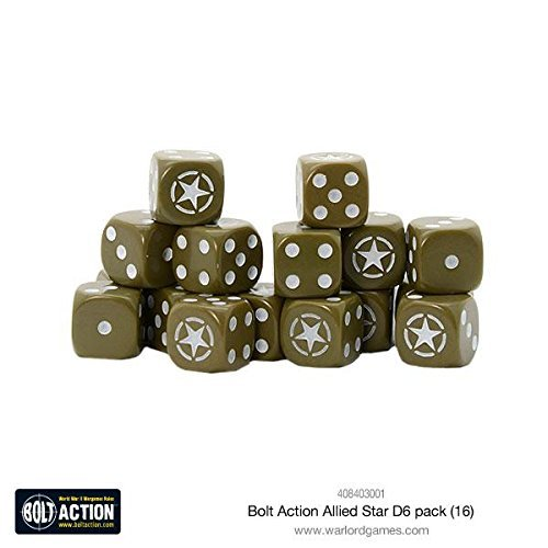 Warlord Games Bolt Action Allied Star W6 D6 Dice Pack (16) -