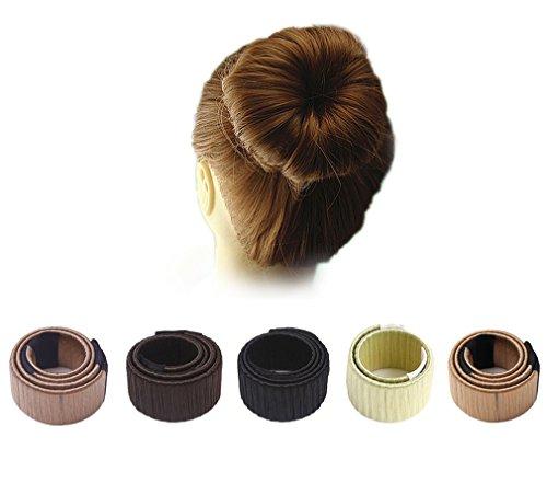 Demarkt 5x Donut Hair Bun Disk-Haar Knotenringe Mode Frisur Damen Fashion Haarstyling Tool Haarknoten Knotenringe DIY