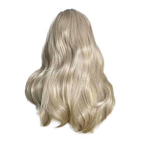 Lace Wigs Perücke,Rifuli® Sexy Frauen Mädchen lange silberne Steigungs Perücke gewellte gelockte synthetische Mode Perücken Heiß lockig Perücke Deep Wave -