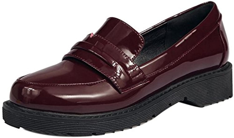 COOLCEPT Mujer Moda Tacon Bajo Vestir Zapatos