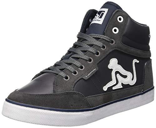 DrunknMunky Boston Classic Sneaker a Collo Alto Uomo, Grigio (Gray Navy 006) 42 EU