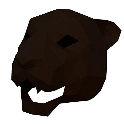 Masken Gesichtsmaske Gesichtsschutz Domino falsche Front Jaguar Tiger Kopf Maske Make-up Tanzparty Party Maske Braun