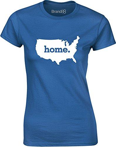 Brand88 - Home, Mesdames T-shirt imprimé Bleu/Blanc