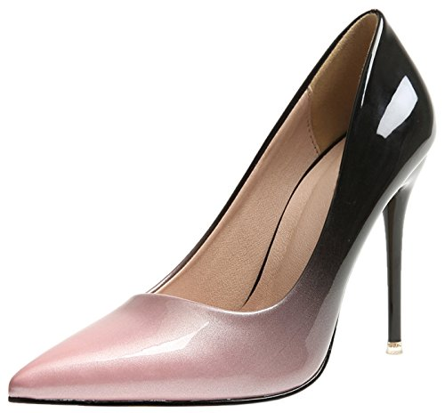 Spitze Zehen Pumps Von Bigtree Damen High Heels Kleid Pumps Pink Gradients Stiletto Schuhe 38 EU
