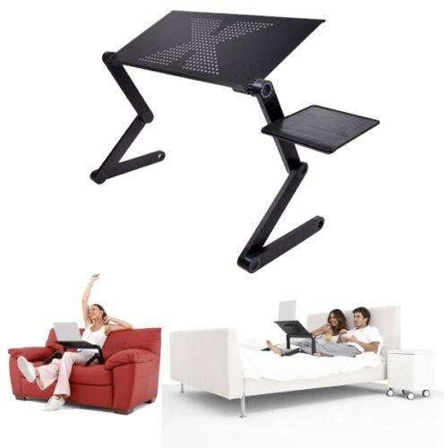 Generic yc-uk2-160104-2< 1& 5742* 1> Ofa Bedtop Co scrivania scrivania computer portatile pieghevole tavolo vassoio supporto per portatile regolabile per divano letto portatile FO
